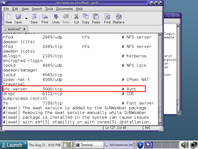 How to install VNC server in Oracle Solaris 10_bashcodes